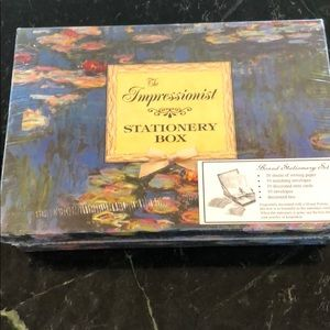 Vintage The Impressionist Boxed Stationery Box New